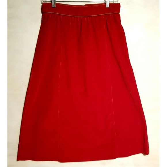 Liz Claiborne Dresses & Skirts - Vintage Red Corduroy Skirt by the Villager
